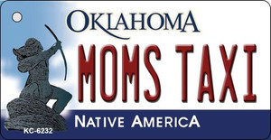 Moms Taxi Oklahoma State License Plate Novelty Wholesale Key Chain KC-6232