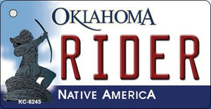 Rider Oklahoma State License Plate Novelty Wholesale Key Chain KC-6245