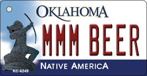 MMM Beer Oklahoma State License Plate Novelty Wholesale Key Chain KC-6249