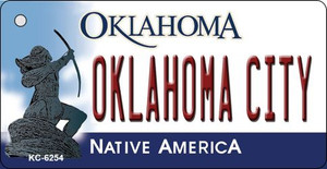 Oklahoma City State License Plate Novelty Wholesale Key Chain KC-6254