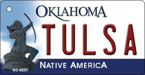 Tulsa Oklahoma State License Plate Novelty Wholesale Key Chain KC-6257