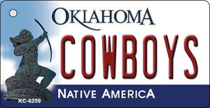 Cowboys Oklahoma State License Plate Novelty Wholesale Key Chain KC-6259