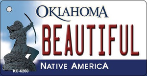 Beautiful Oklahoma State License Plate Novelty Wholesale Key Chain KC-6260
