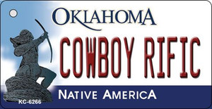 Cowboy Rific Oklahoma State License Plate Novelty Wholesale Key Chain KC-6266