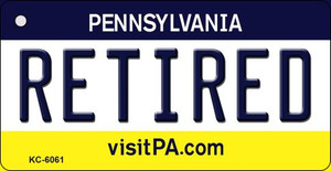 Retired Pennsylvania State License Plate Wholesale Key Chain KC-6061