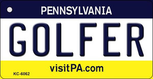Golfer Pennsylvania State License Plate Wholesale Key Chain KC-6062