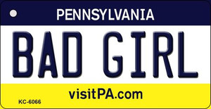Bad Girl Pennsylvania State License Plate Wholesale Key Chain KC-6066