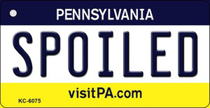 Spoiled Pennsylvania State License Plate Wholesale Key Chain KC-6075