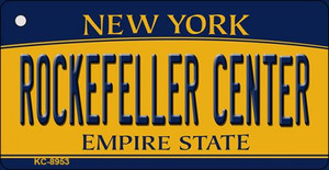 Rockefeller Center New York State License Plate Wholesale Key Chain KC-8953