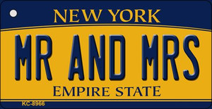 Mr and Mrs New York State License Plate Wholesale Key Chain KC-8966