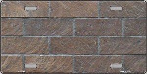 Brick Wall Background Wholesale Metal Novelty License Plate LP-3365
