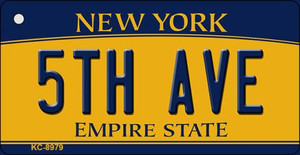 5th Ave New York State License Plate Wholesale Key Chain KC-8979