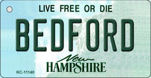 Bedford New Hampshire State License Plate Wholesale Key Chain KC-11140