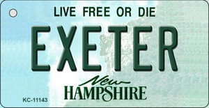 Exeter New Hampshire State License Plate Wholesale Key Chain KC-11143