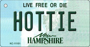 Hottie New Hampshire State License Plate Wholesale Key Chain KC-11151