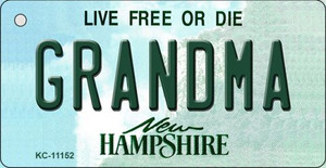 Grandma New Hampshire State License Plate Wholesale Key Chain KC-11152