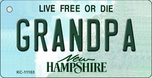 Grandpa New Hampshire State License Plate Wholesale Key Chain KC-11153