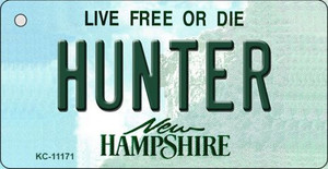 Hunter New Hampshire State License Plate Wholesale Key Chain KC-11171