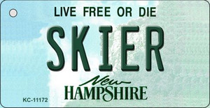 Skier New Hampshire State License Plate Wholesale Key Chain KC-11172