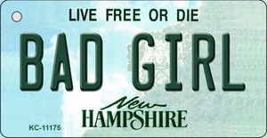 Bad Girl New Hampshire State License Plate Wholesale Key Chain KC-11175
