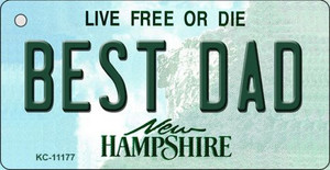 Best Dad New Hampshire State License Plate Wholesale Key Chain KC-11177