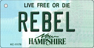 Rebel New Hampshire State License Plate Wholesale Key Chain KC-11178