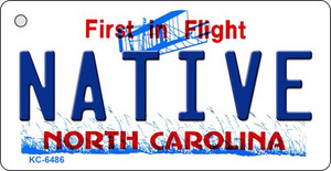 Native North Carolina State License Plate Wholesale Key Chain KC-6486