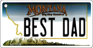 Best Dad Montana State License Plate Novelty Wholesale Key Chain KC-11128