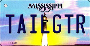 Tailgtr Mississippi State License Plate Wholesale Key Chain KC-6549