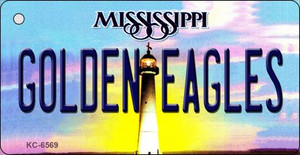 Golden Eagles Mississippi State License Plate Wholesale Key Chain KC-6569