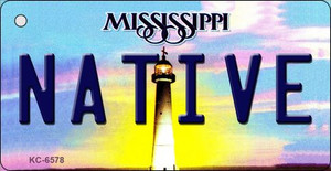 Native Mississippi State License Plate Wholesale Key Chain KC-6578