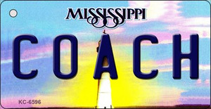 Coach Mississippi State License Plate Wholesale Key Chain KC-6596