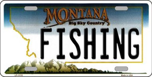 Fishing Montana State Novelty Wholesale License Plate LP-11110