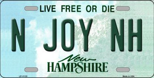 N Joy NH New Hampshire State Wholesale License Plate LP-11133