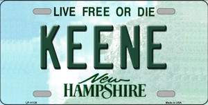 Keene New Hampshire State Wholesale License Plate LP-11138