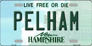 Pelham New Hampshire State Wholesale License Plate LP-11150