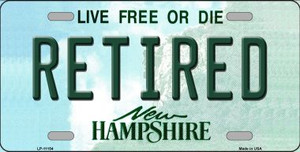 Retired New Hampshire State Wholesale License Plate LP-11154