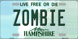 Zombie New Hampshire State Wholesale License Plate LP-11156