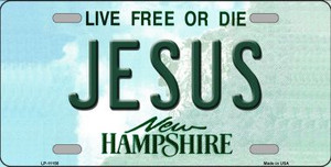 Jesus New Hampshire State Wholesale License Plate LP-11158