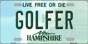 Golfer New Hampshire State Wholesale License Plate LP-11170