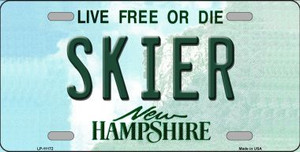 Skier New Hampshire State Wholesale License Plate LP-11172