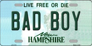 Bad Boy New Hampshire State Wholesale License Plate LP-11174