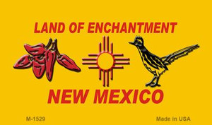 Red Chili & Road Runner Yellow New Mexico Novelty Wholesale Magnet