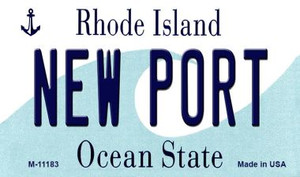 New Port Rhode Island State License Plate Novelty Wholesale Magnet M-11183