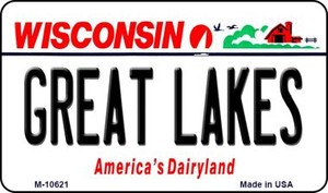 Great Lakes Wisconsin State License Plate Novelty Wholesale Magnet M-10621