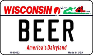 Beer Wisconsin State License Plate Novelty Wholesale Magnet M-10622