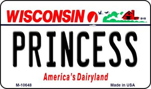 Princess Wisconsin State License Plate Novelty Wholesale Magnet M-10648