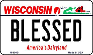 Blessed Wisconsin State License Plate Novelty Wholesale Magnet M-10651