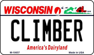 Climber Wisconsin State License Plate Novelty Wholesale Magnet M-10657