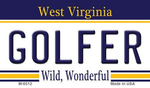 Golfer West Virginia State License Plate Wholesale Magnet M-6512